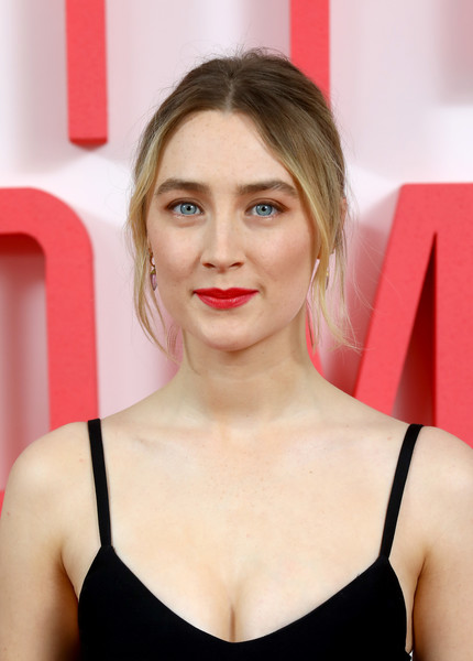 Saoirse Ronan kept it casual with this loose bun at the 'Little Women' evening photocall in London.