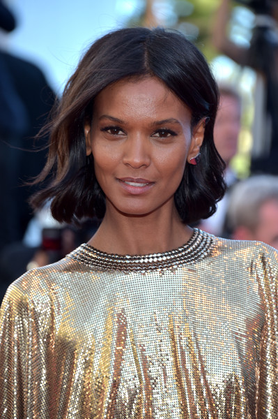 Liya Kebede Short Wavy Cut [hair,hairstyle,fashion model,beauty,fashion,long hair,black hair,layered hair,hair coloring,flooring,red carpet arrivals,model,liya kebede,beats per minute,screening,cannes,france,cannes film festival,palais des festivals]