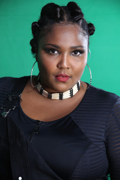 Lizzo Beaded Choker Necklace [wonderland live show,hair,face,hairstyle,beauty,lip,forehead,fashion,black hair,neck,model,lizzo,portrait,california,los angeles,mtv]