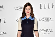 Lizzy Caplan Leather Clutch