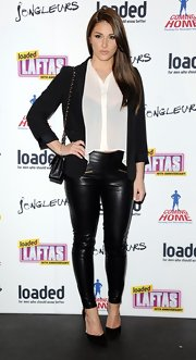 A black blazer topped off Lucy Pinder's red carpet look for the Loaded LAFTA's.
