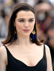 Rachel Weisz styled her hair into a simple flip for the 'Lobster' photocall.