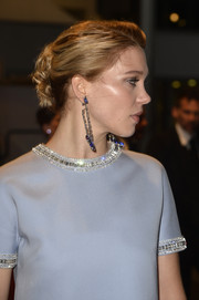Lea Seydoux swept her hair back into a messy-chic loose bun for the Cannes premiere of 'The Lobster.'