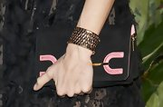 Adriana Abascal wore a chunky gold bracelet to Lowe's new collection party.