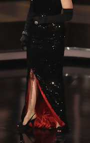Barbara Schoeneberger attended the 2011 German Film Awards wearing a pair of sleek slingbacks.