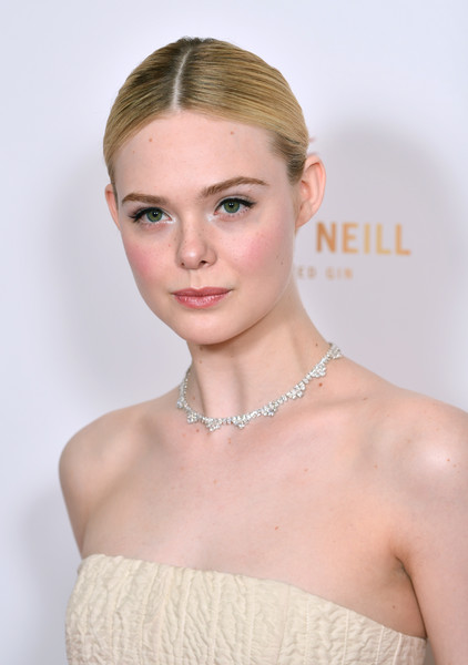 More Pics of Elle Fanning Strapless Dress (4 of 11) - Elle Fanning Lookbook - StyleBistro [hair,face,hairstyle,skin,beauty,eyebrow,shoulder,lip,chin,forehead,red carpet arrivals,elle fanning,london,england,the may fair hotel,london critics circle film awards,london critics circle film awards 2020,elle fanning,all the bright places,london film critics circle,london,actor,fanning sisters,film criticism,image,photograph,london film critics circle awards]