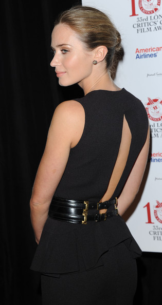 More Pics of Emily Blunt Classic Bun (1 of 9) - Updos Lookbook - StyleBistro