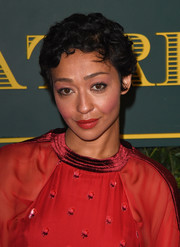 Ruth Negga attended the London Evening Standard Theatre Awards sporting her signature Betty Boop curls.