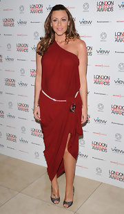 Michelle Heaton looked like a goddess in a draped one-shoulder dress at the London Lifestyle Awards 2011.