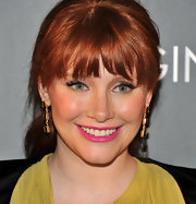 Bryce Dallas Howard wore a pair of Judie 3 drop earrings in yellow gold vermeil with synthetic smoky quartz stones at a screening of 'When You Find Me.'