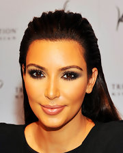 Kim's false lashes were in full force at Fashion's Night Out in NYC.