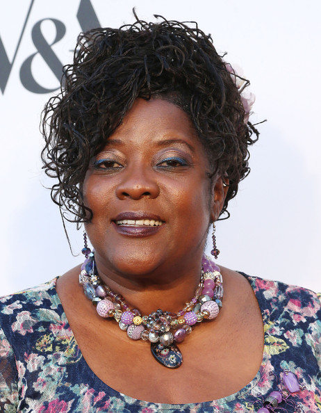 Loretta Devine Messy Updo [the academy of motion picture arts and sciences,hair,face,hairstyle,chin,black hair,forehead,lip,neck,necklace,fashion accessory,loretta devine,wilshire may company building,california,los angeles,academy of motion picture arts and sciences,hollywood costume opening party - arrivals,hollywood costume opening party]