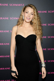 Blake Lively accessorized with a ton of Lorraine Schwartz bracelets at the launch of the Eye Bangle.