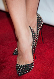 Katharine McPhee wore a super-stylish pair of Christian Louboutin spiked pumps to the LA Confidential pre-Emmy celebration.