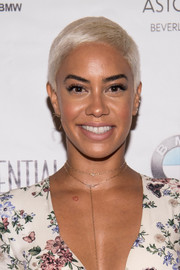 Sibley Scoles stayed cool with this buzzcut at the Los Angeles Confidential Women of Influence tea.