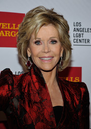 Jane Fonda sported a stylish textured bob when she attended the Vanguard Awards.