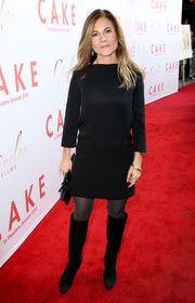 Kristin Hahn opted for a basic little black dress when she attended the premiere of 'Cake.'