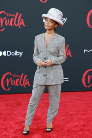 Marsai Martin finished off her ensemble with a pair of black peep-toes.