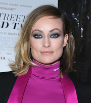 Olivia Wilde looked edgy-glam with her smoky jewel-toned eyeshadow.