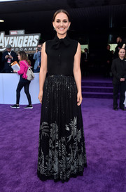 Natalie Portman's sequined maxi skirt (also by Dior) provided a more glamorous finish.