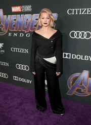 Olivia Holt went ultra modern in this off-the-shoulder pantsuit by Monse at the world premiere of 'Avengers: Endgame.'