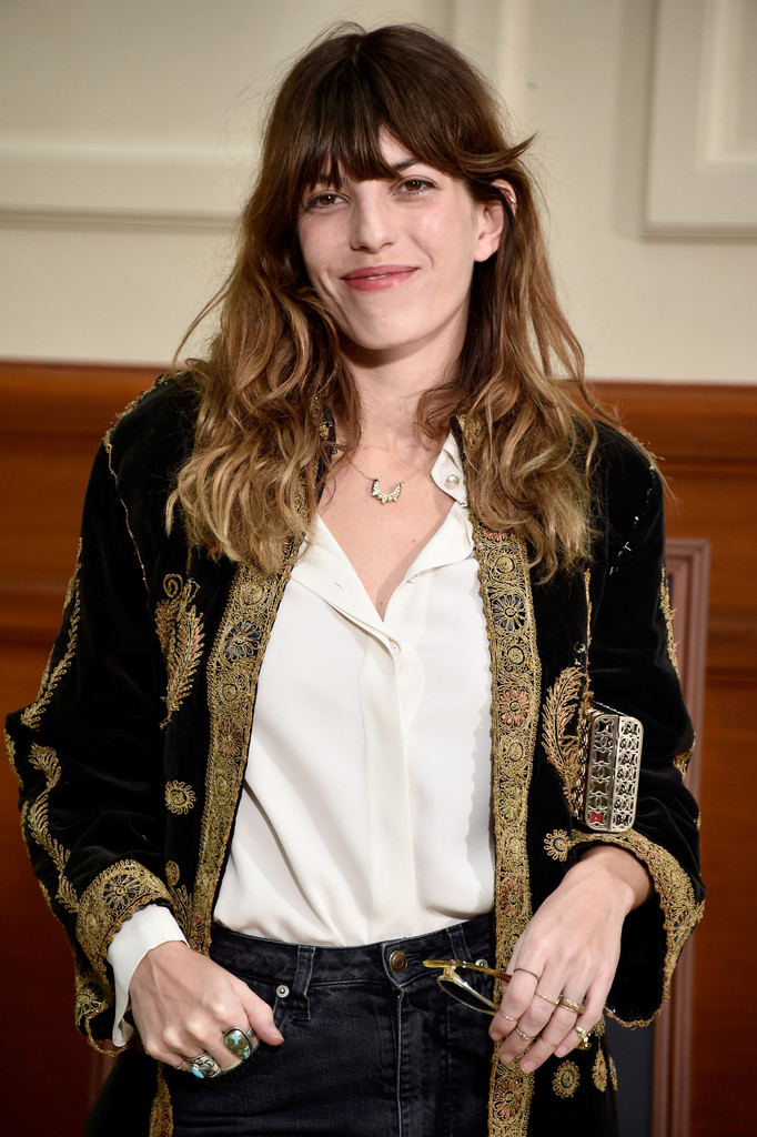 Lou Doillon Gemstone Ring Lou Doillon Looks Stylebistro