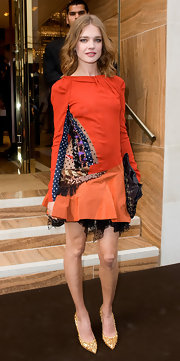 Natalia Vordinuova showed off her Spring 2009 frock while hitting the Bond Street Maison Launch.