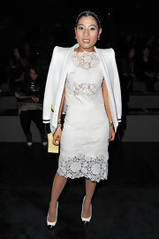 Sirivannavari Nariratana wore this darling lace number to be seated front row at Louis Vuitton's Fall 2012 show.