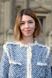 Sofia Coppola kept it casual with this short side-parted 'do when she attended the Louis Vuitton fashion show.