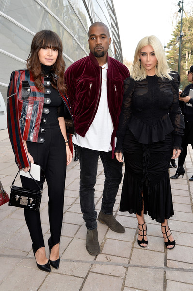 Miroslava Duma, Kanye West and Kim Kardashian at Louis Vuitton