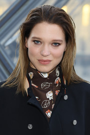 Lea Seydoux looked edgy with her wet-look 'do at the Louis Vuitton Fall 2019 show.