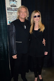 Marjorie Bach rocked an all-black ensemble, topped off with a stylish blazer, at the Love for Levon benefit concert.