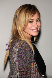 Hilary Duff rocked a loose braid while hitting an event in New York City.
