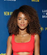 Serayah McNeill attended City Jam 2018 rocking an afro.