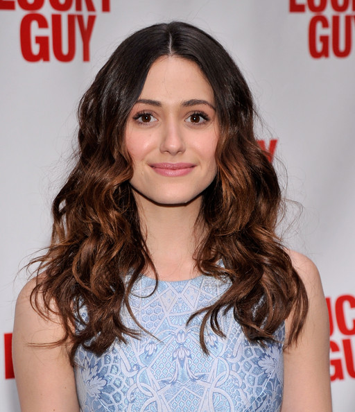 More Pics of Emmy Rossum Long Wavy Cut (3 of 3) - Long Wavy Cut Lookbook - StyleBistro