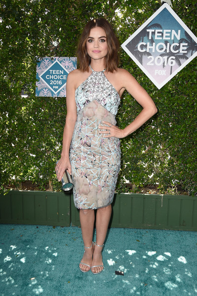 Lucy Hale Halter Dress