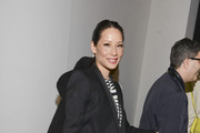 Lucy Liu Leather Tote