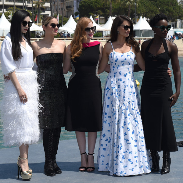Lupita Nyong'o Lace Up Boots [dress,clothing,lady,fashion,shoulder,event,gown,formal wear,haute couture,fun,actresses,fan bingbing,penelope cruz,lupita nyongo,marion cotillard,jessica chastain,instant view,photocall,majestic beach pier,cannes film festival]