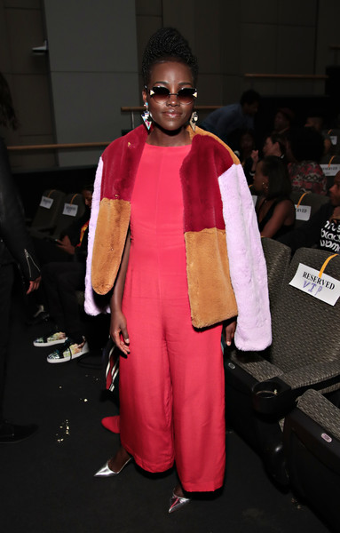 Lupita Nyong'o Jumpsuit [fashion,clothing,pink,fashion show,fashion design,outerwear,haute couture,costume,event,runway,dirty computer,lupita nyongo,screening,new york city,walter reade theatre,the film society of lincoln center]