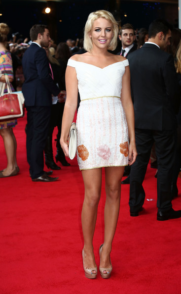 Lydia Bright Off-the-Shoulder Dress [what to expect when youre expecting - uk film premiere,red carpet,dress,clothing,shoulder,cocktail dress,carpet,premiere,flooring,fashion model,fashion,lydia bright,uk,england,london,bfi imax,film premiere]