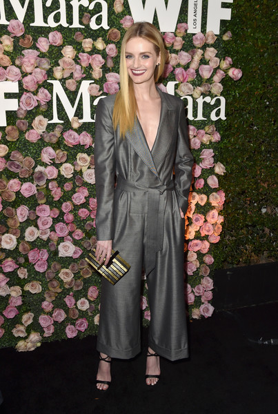 Lydia Hearst Box Clutch [max mara celebrates zoey deutch,the 2017 women in film max mara face of the future,lydia hearst,clothing,pink,suit,pantsuit,fashion,hairstyle,formal wear,premiere,dress,footwear,chateau marmont,california,los angeles,max mara]
