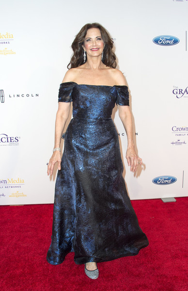 Lynda Carter Off-the-Shoulder Dress