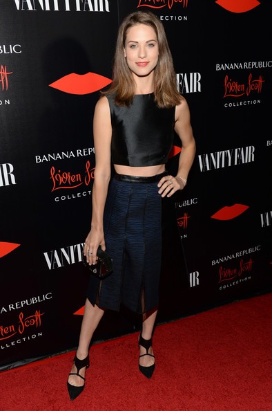 Lyndsy Fonseca Knee Length Skirt [krista smith celebrate the launch of the banana republic,clothing,red carpet,premiere,carpet,footwear,dress,little black dress,flooring,shoe,muscle,lwren scott collection,lwren scott,lyndsy fonseca,krista smith,chateau marmont,los angeles,california,banana republic,launch celebration]