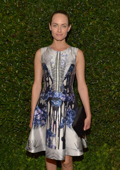 More Pics of Amber Valletta Print Dress (1 of 3) - Amber Valletta Lookbook - StyleBistro