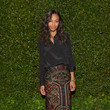 Zoe Saldana's Chic Black Button-Down