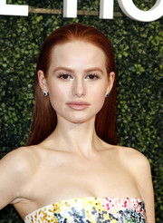 Madelaine Petsch kept it simple yet elegant with this straight, brushed-back hairstyle at the MAISON-DE-MODE sustainable style celebration.