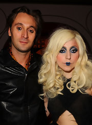 Lady Gaga ditched her usual pink pout for a defined blue pout at the MOCA New 30th Anniversary Gala.