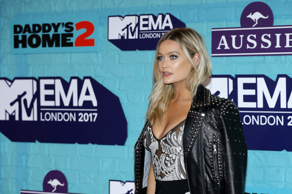 More Pics of Laura Whitmore Platform Sandals (3 of 5) - Heels Lookbook - StyleBistro [event,television presenter,advertising,red carpet arrivals,emas 2017,laura whitmore,sse arena,london,england,wembley,mtv]