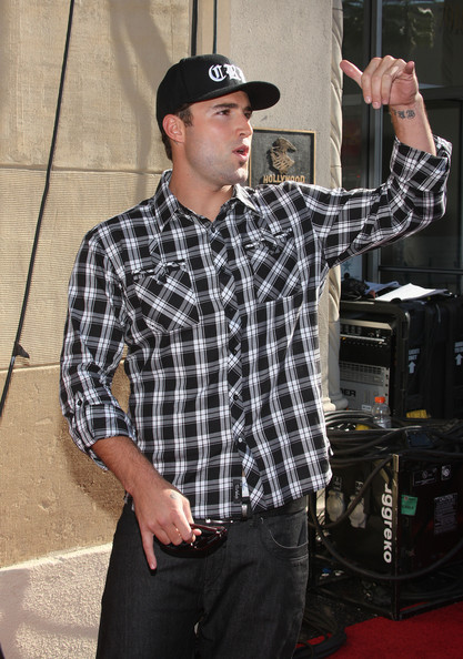 More Pics of Brody Jenner Lettering Tattoo (1 of 5) - Brody Jenner Lookbook - StyleBistro [the hills live: a hollywood ending,plaid,pattern,design,tartan,music,textile,muscle,dress shirt,baseball cap,performance,brody jenner,finale - arrivals,hollywood,california,the roosevelt hotel,mtv]