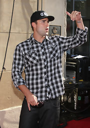 Television personality Brody Jenner has letters inked on the inside of his left wrist.
